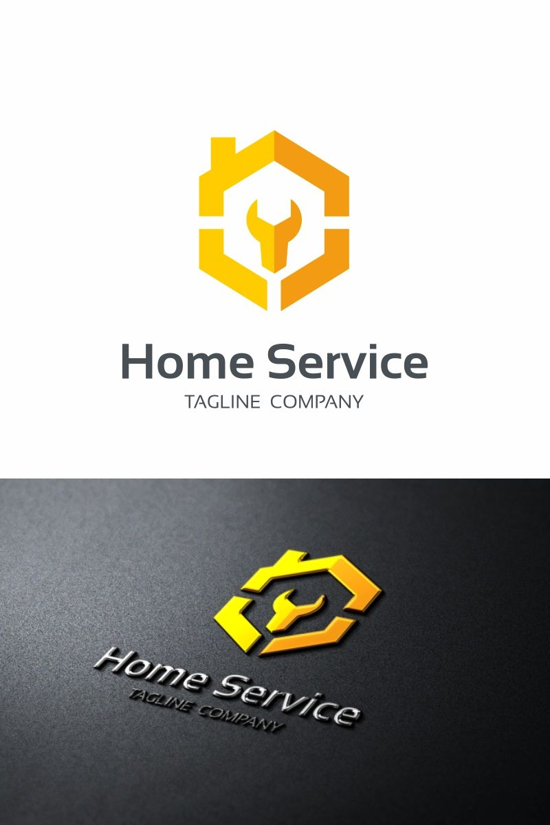 Home Service Logo Template Construction Logo Design Roofing