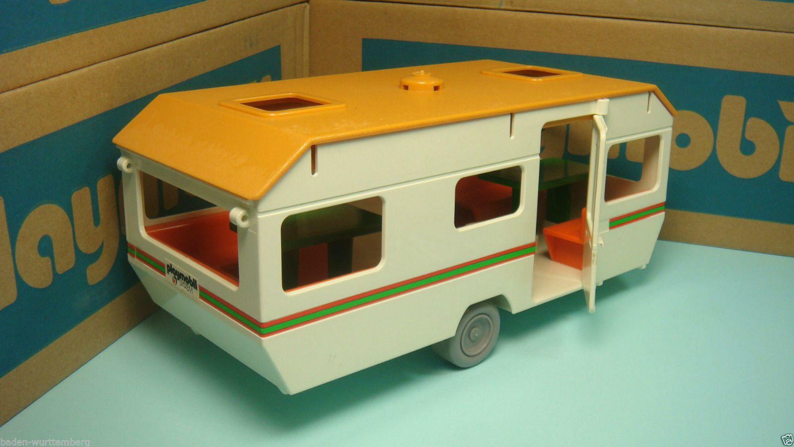Playmobil vintage trailer camper playmobil pinterest - Camping car playmobil pas cher ...