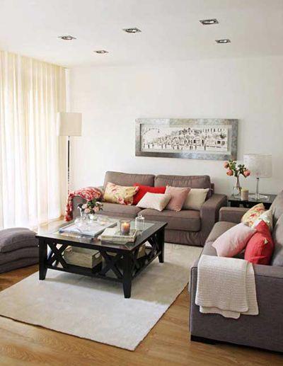 Salon, estilo Contemporaneo color Marron, Blanco, Gris, Negro