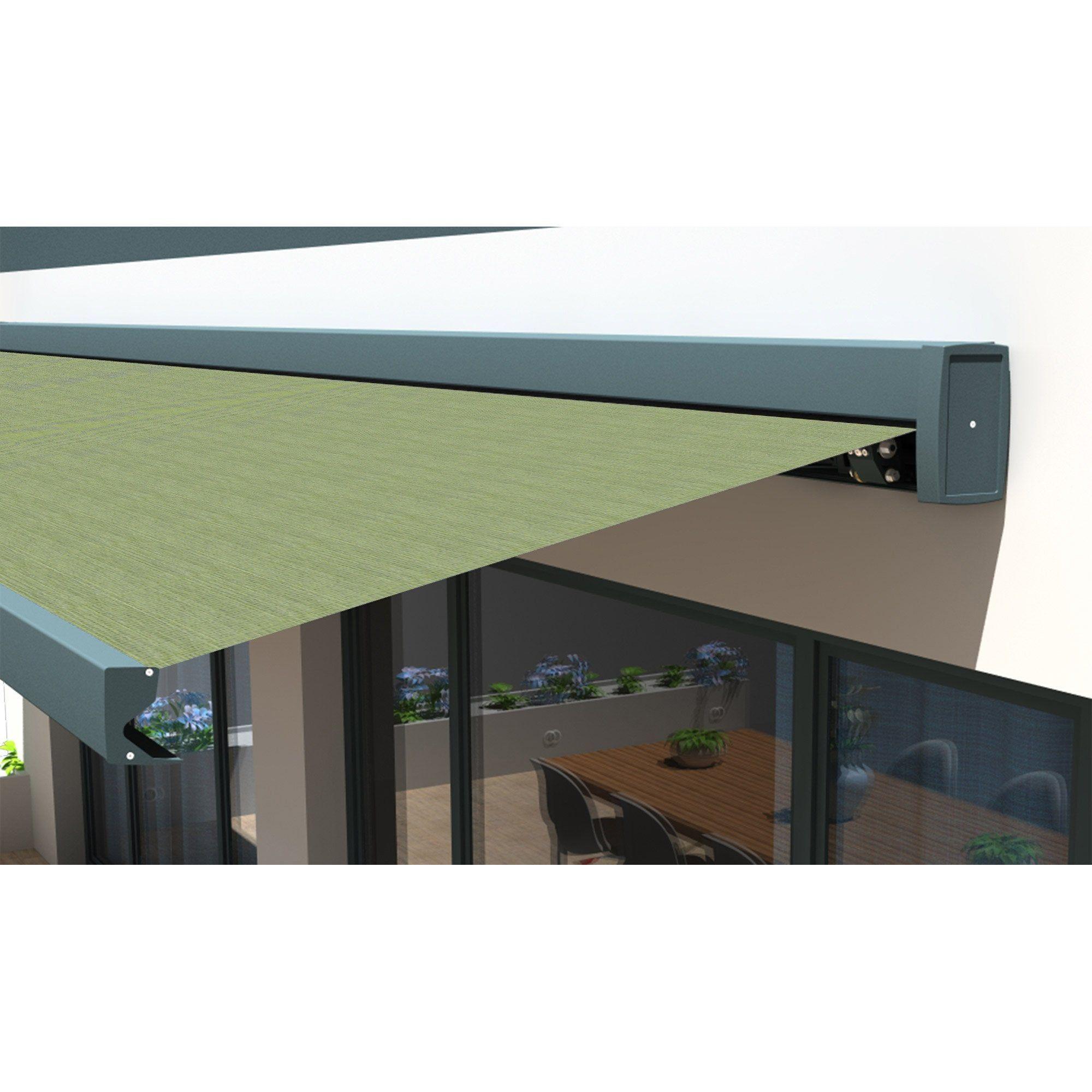 store banne motorisé 7 x 4 m vert loft xxl toile