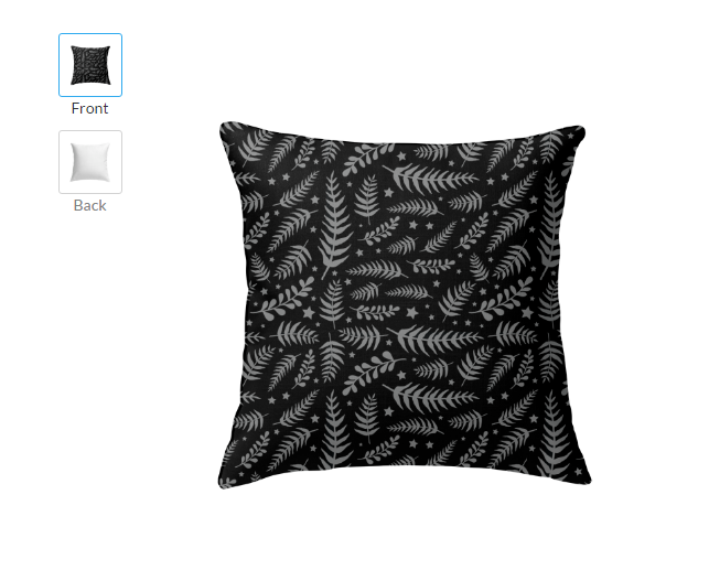 Black Grey leaf square large cute Throw Pillow sets throw pillows