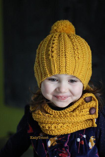 Patrón de gorro y bufanda de punto para bebés y niños pequeños ... 1d45d7bf623