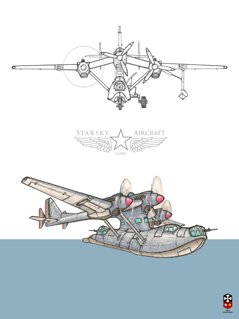 Patrol amphibian by YuryMilovidov Aircraft art