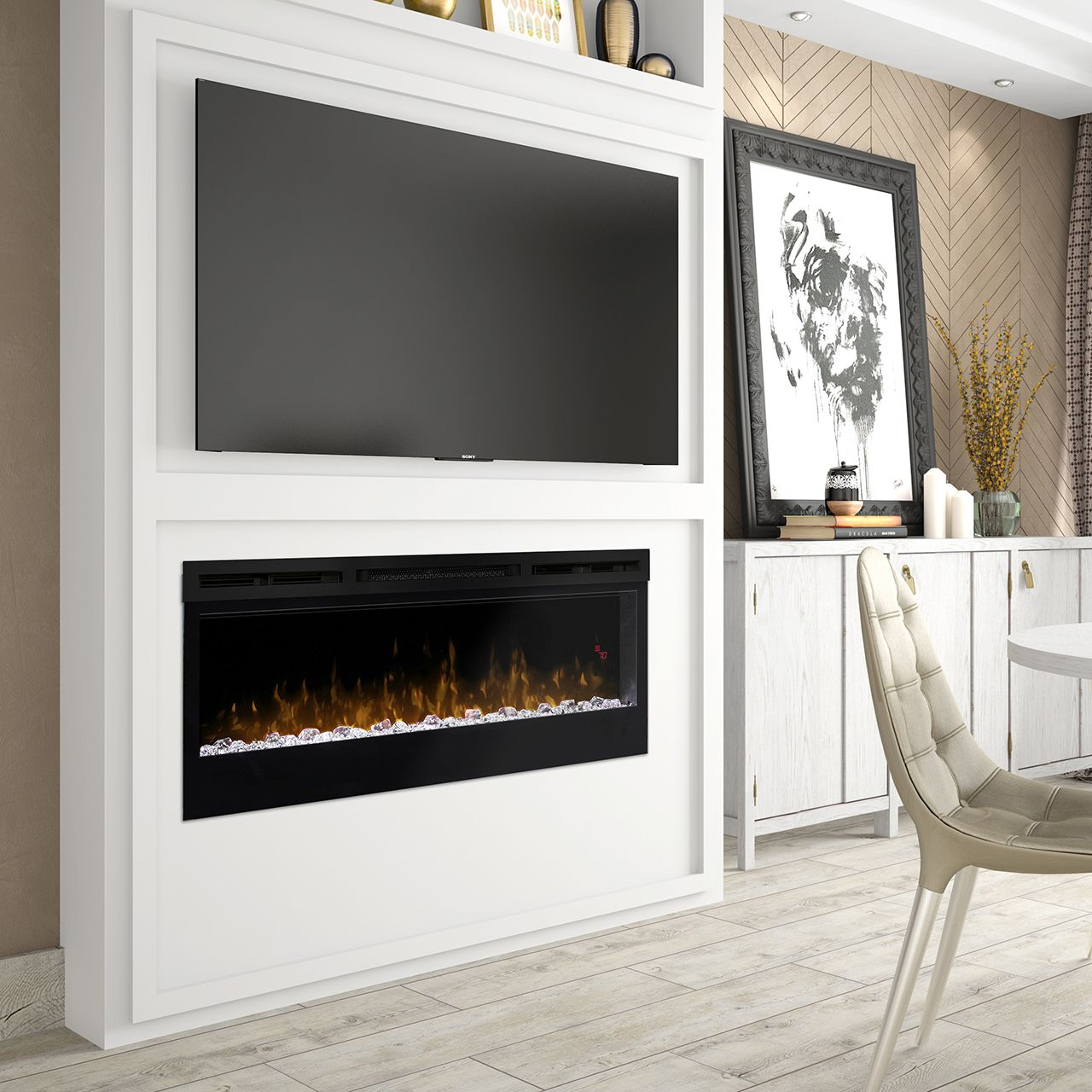 Dimplex Electric Fireplaces Linear Fireplaces Products Prism Series 50 Linea Wall Mount Electric Fireplace Linear Fireplace Dimplex Electric Fireplace