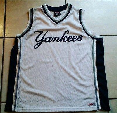 fcad97e2f38a Rare STITCHES New York Yankees SEWN Basketball Jersey Men s XL ...