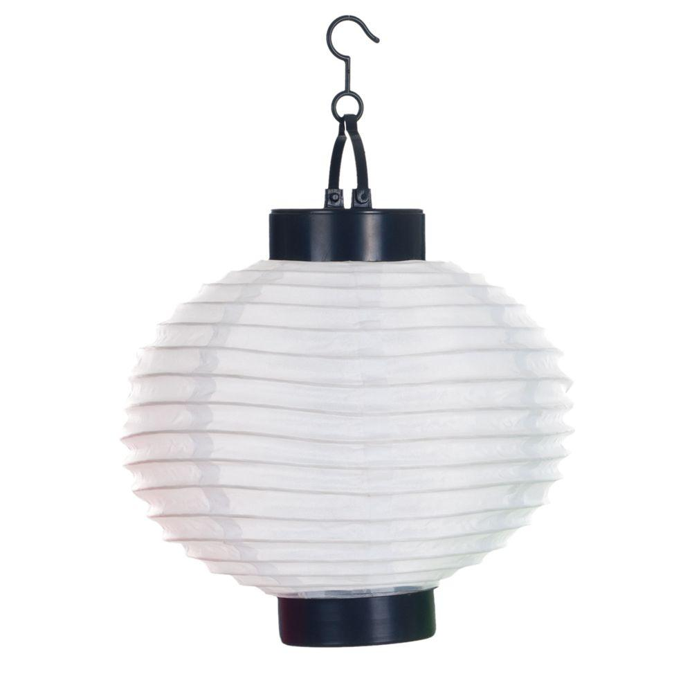 Pure Garden 4 Light White Outdoor Led Solar Chinese Lantern 50 19 W Outdoor Paper Lanterns Outdoor Hanging Lanterns Outdoor Lanterns