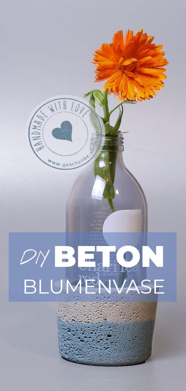 Beton Vasen Selber Machen diy idee beton vase im maritimen stil ikea hack concrete and