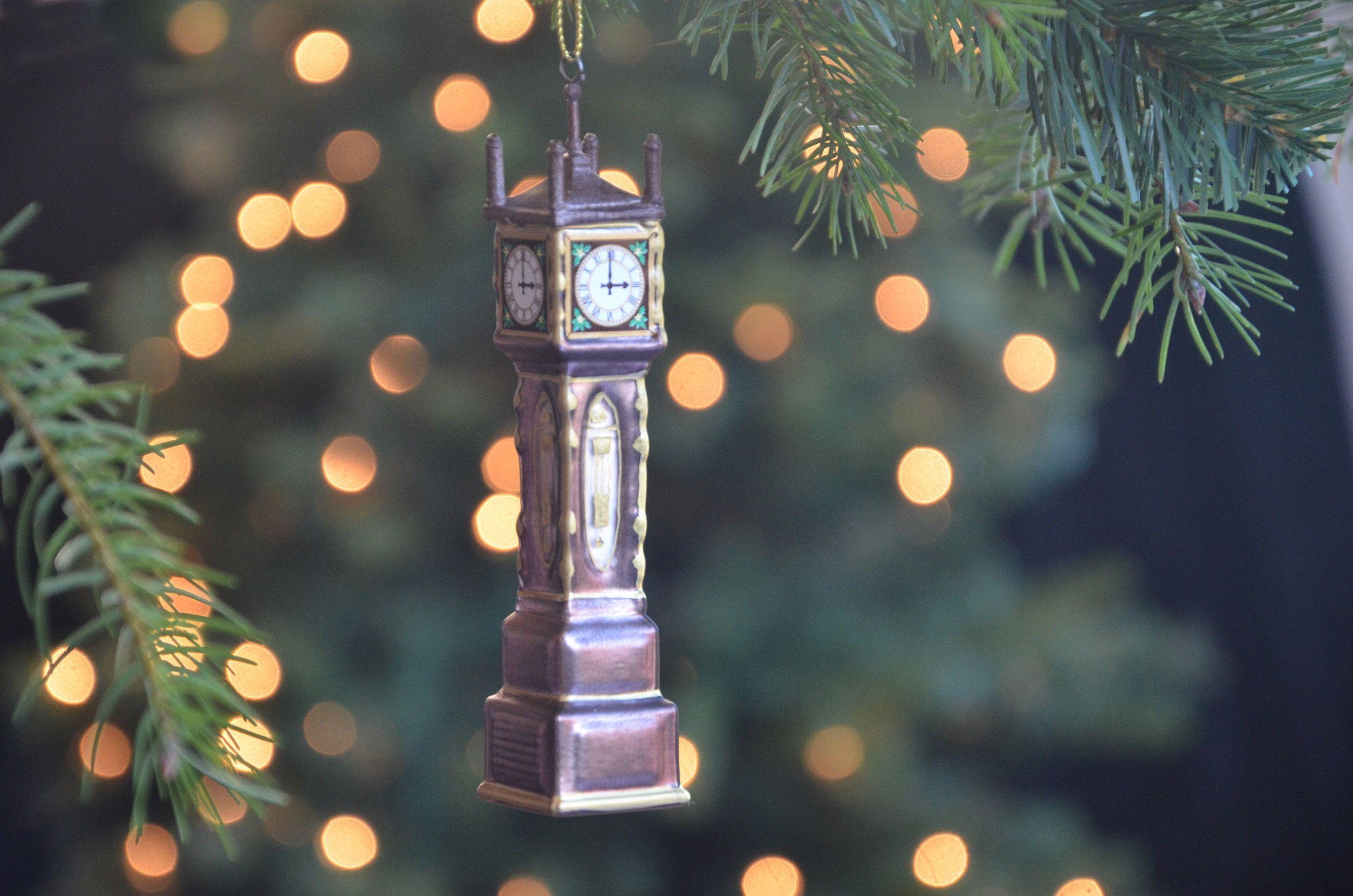 Gastown Steam Clock Blown Glass Ornament Christmas Ornaments Christmas Decorations Christmas