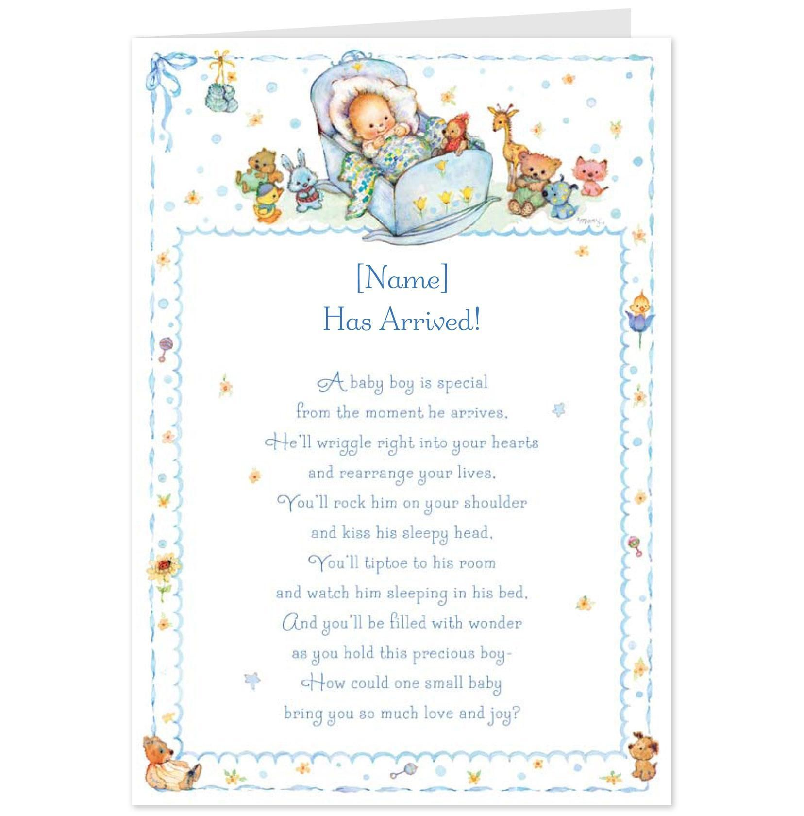 Hallmark Valentines Day Poems Baby Boy Poem Congratulations – Valentines Day Poems for Cards