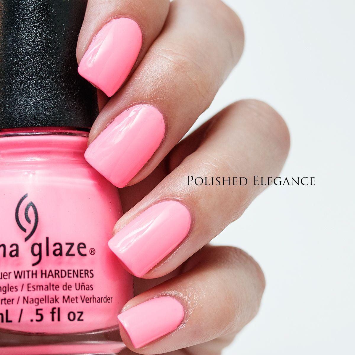 China Glaze - Shocking Pink swatch neon pink nail polish | Beauty ...