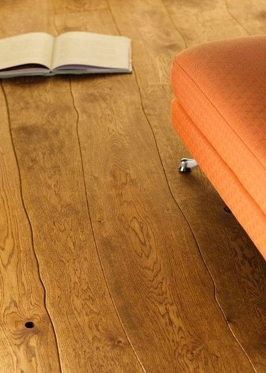 Gorgeous Hardwood Flooring With Naturally Curved Lengths That Follow