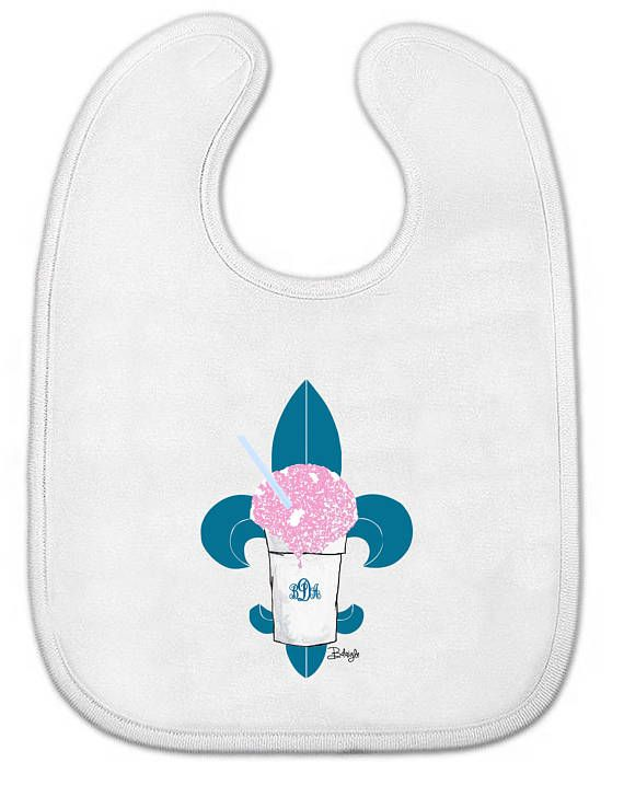 Baby All-in-One Bodysuit OR Bib New Orleans Graphics ...