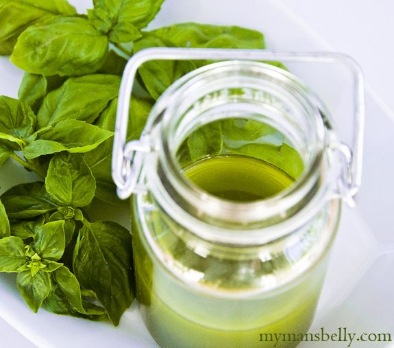 What to do with all this basil? Fresh Basil Recipes - Basil Olive Oil (for salads or ice cream)