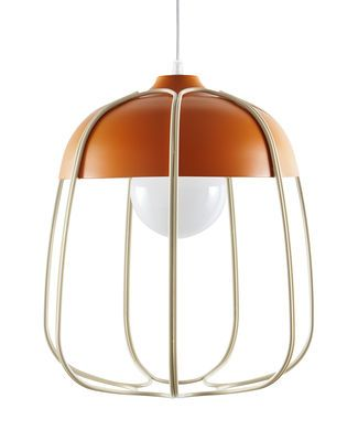 Suspension Tull / Ø 36 x H 40 cm Orange / Cage beige - Incipit - Décoration et mobilier design avec Made in Design