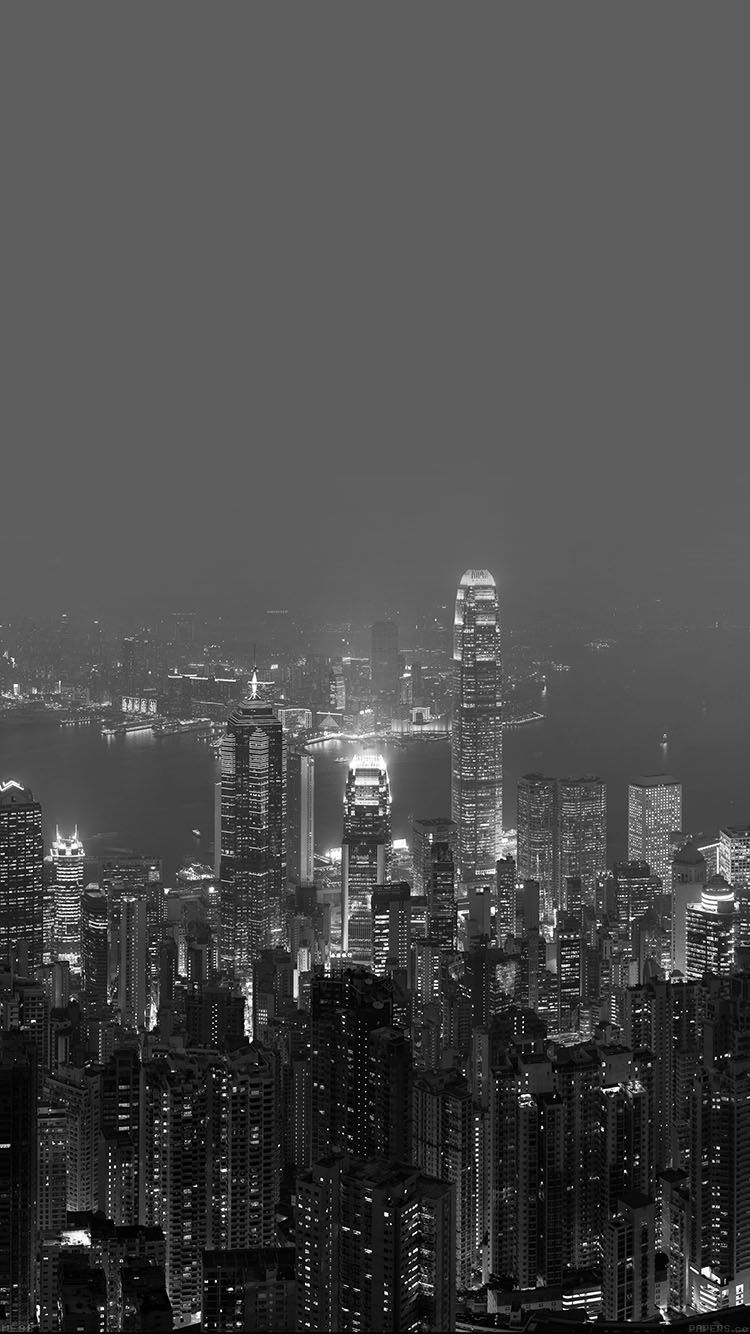 Skyline Hongkong Dark City Night Live Wallpaper Hd Iphone Dark City Skyline City Wallpaper