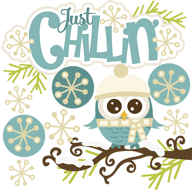Snow cute. Just chillin svg owl
