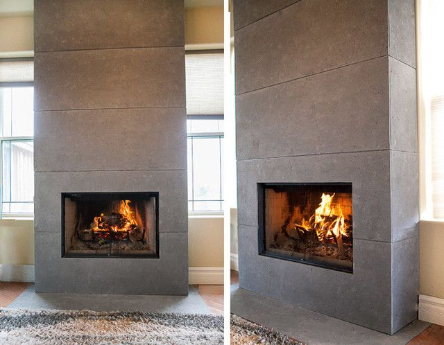 Fireplace Mantels and Surrounds Modern Indoor Fireplaces other ...