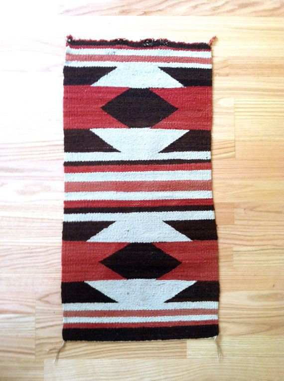 Vintage Navajo Native American Indian Rug Wool Tribal