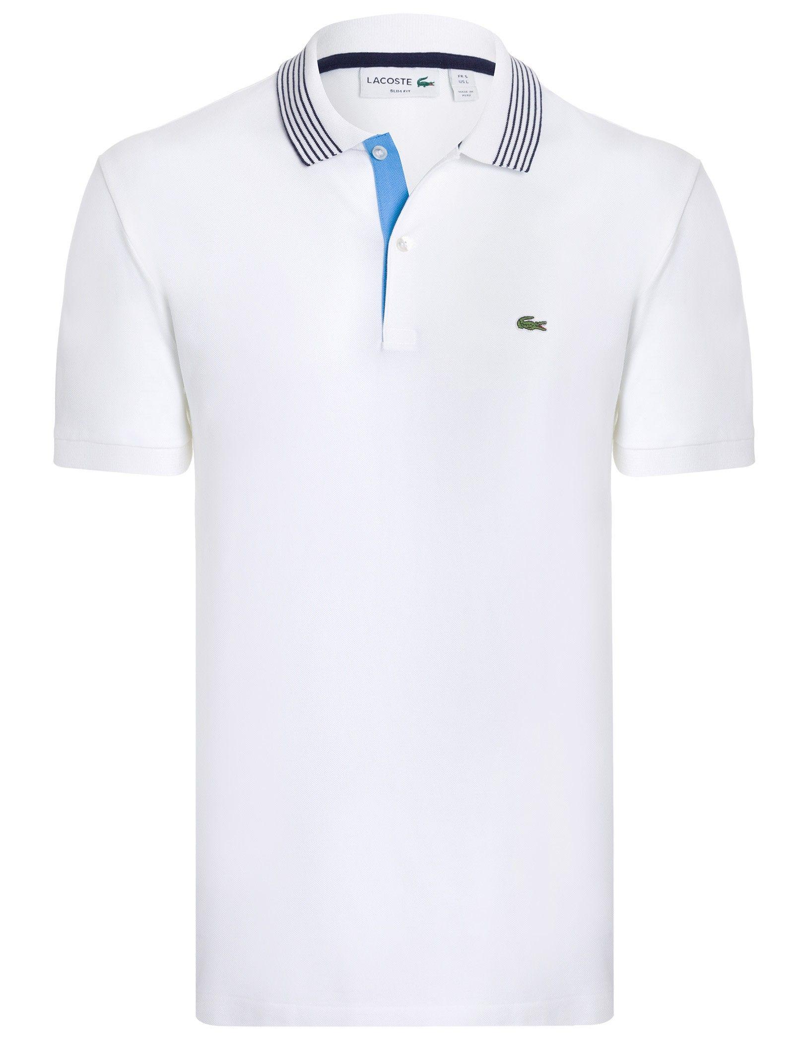dd8879471d5f6 POLO MASCULINA MANGA CURTA - BRANCO   Polo Menswear   Polo, Menswear ...