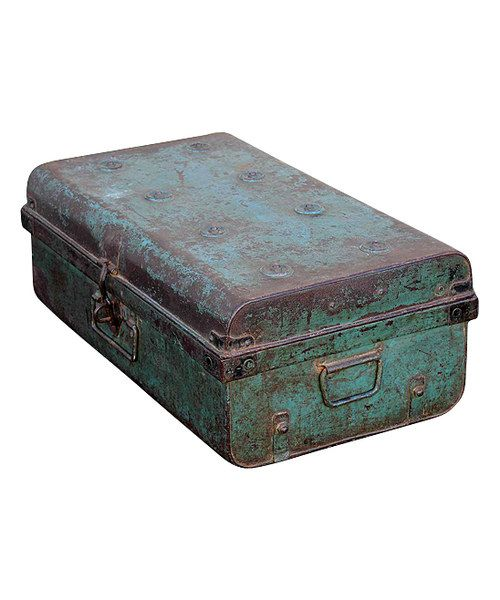 Look at this Emerald Vintage 1950s Iron Traveler's Storage Trunk on #zulily today!
