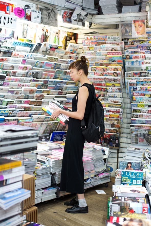 buying an armful of magazines for a long weekend | Style Inspiration