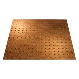Fasade Muted Gold Faux Tin 15/16-In Drop Ceiling Tiles (Common: 24-In
