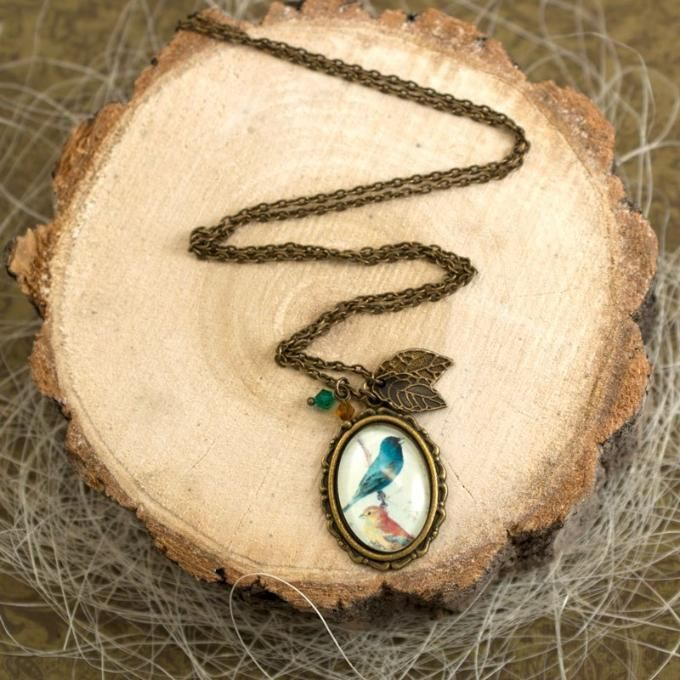 Tibetan style cabochon pendant necklace made by  Olga Ermolaeva from LC.Pandahall.com   #pandahall