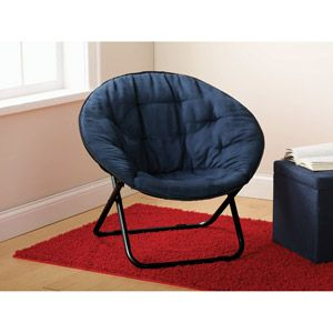 Mainstays Microsuede Saucer Chair, Blue