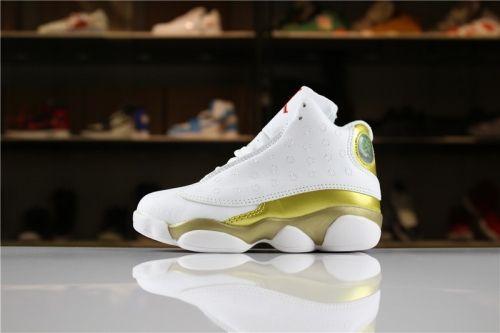 7fc8d2d3a5464a Shop Kids Air Jordan 13 DMP White Metallic Gold-Varsity Red For Sale -  ishoesdesign