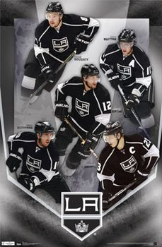 La Kings Fantastic Five Poster Doughty Kopitar Brown Gagne Richards Costacos Sports La Kings Hockey La Kings Kings Hockey