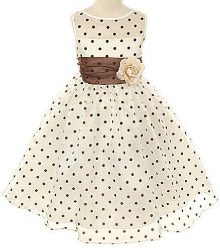 Kids Dream Girls 2T Ivory Brown Organza Dot Flower Girl Easter Dress Kids Dream,http://www.amazon.com/dp/B00BT0G50O/ref=cm_sw_r_pi_dp_D51Zsb04Q82KQMH1