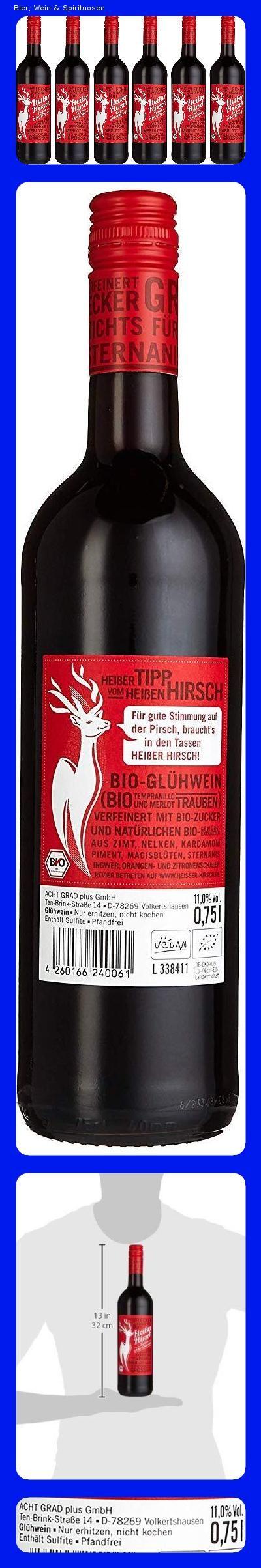 Heisser Hirsch Bio Gluhwein Rot 6 X 0 75l Spirituosen Gluhwein Und Wein
