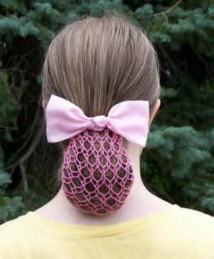 Half Snood Crocheted in pink with Headband