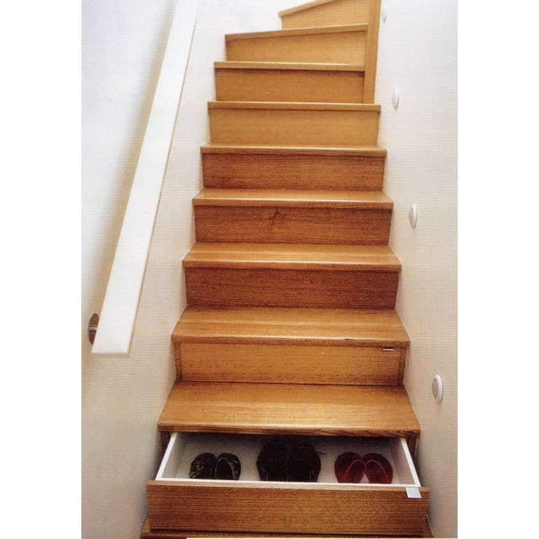 Modern Storage Ideas For Small Spaces Staircase Design: Stair Drawers. Genius. I Wonder If Our Existing