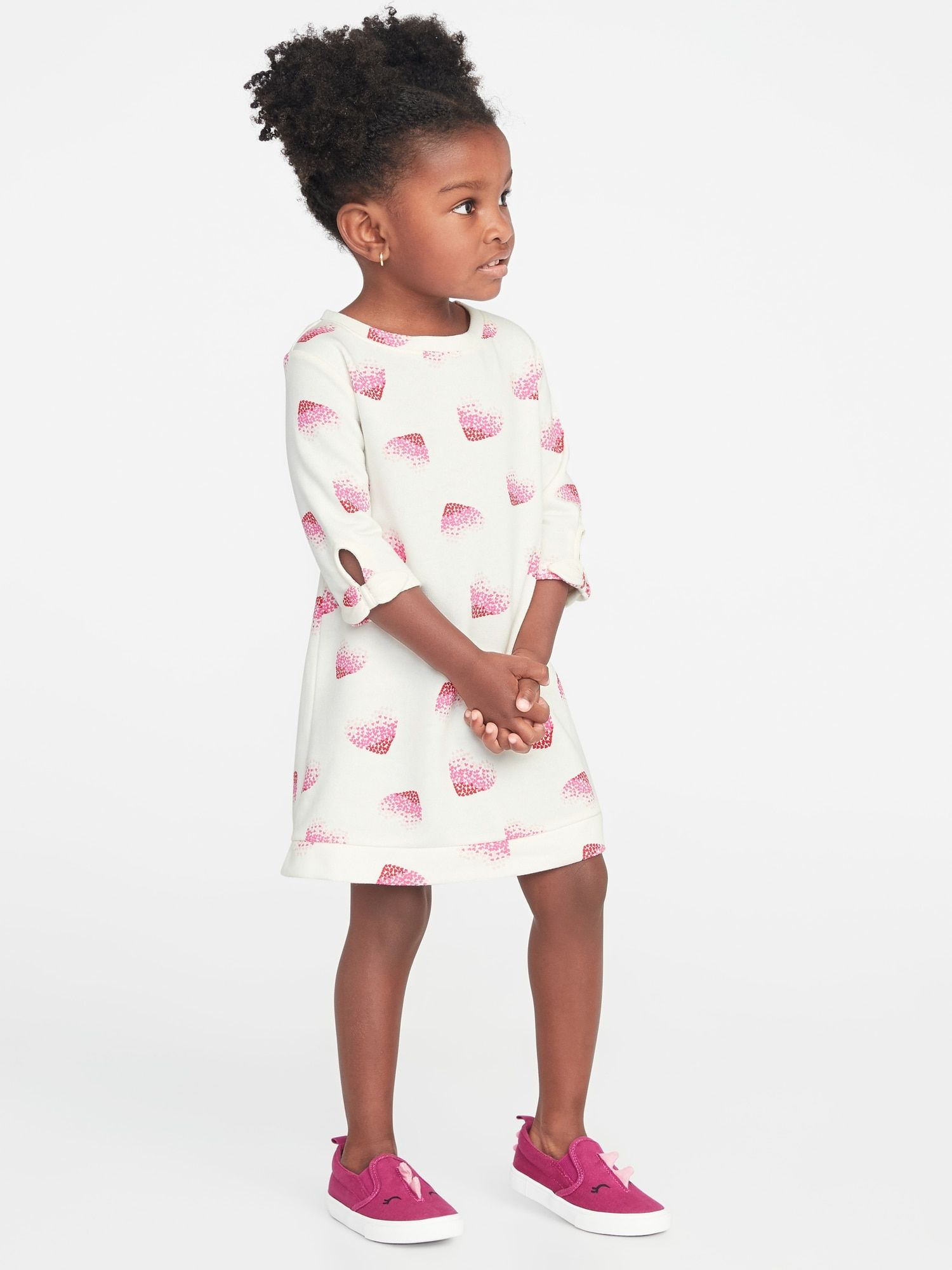 132de6e05 French-Terry Graphic Shift Dress for Toddler Girls