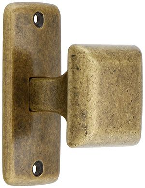 Mission Square Cabinet Knob With Rectangular Backplate | House Of Antique  Hardware