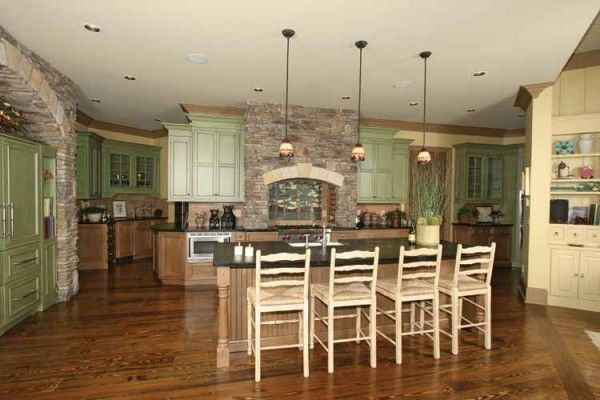 Craftsman Style Home Interiors Property elegant kitchen with nook island in contemporary craftsman house