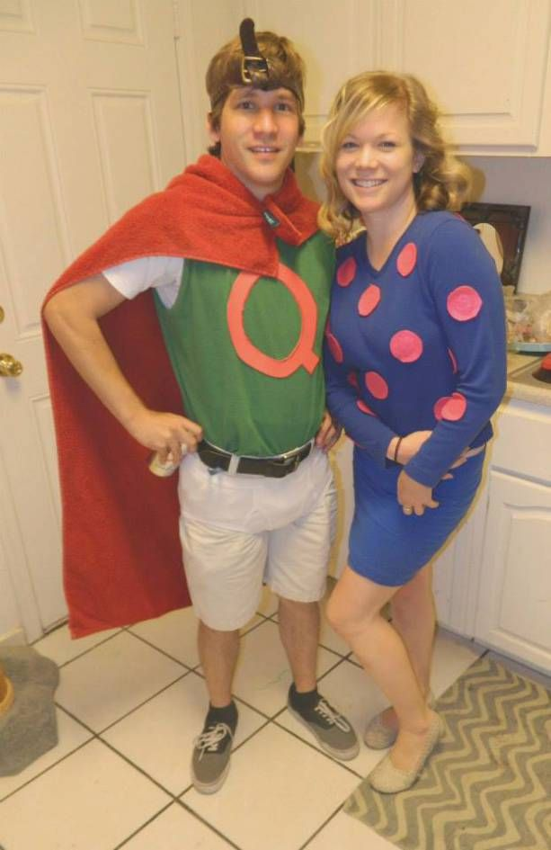 Quail Man and Patty Mayonnaise from Doug costumes for a 90s party