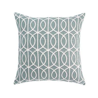 DwellStudio Gate Pillow in Azure $79.20 ***actual pillow in room