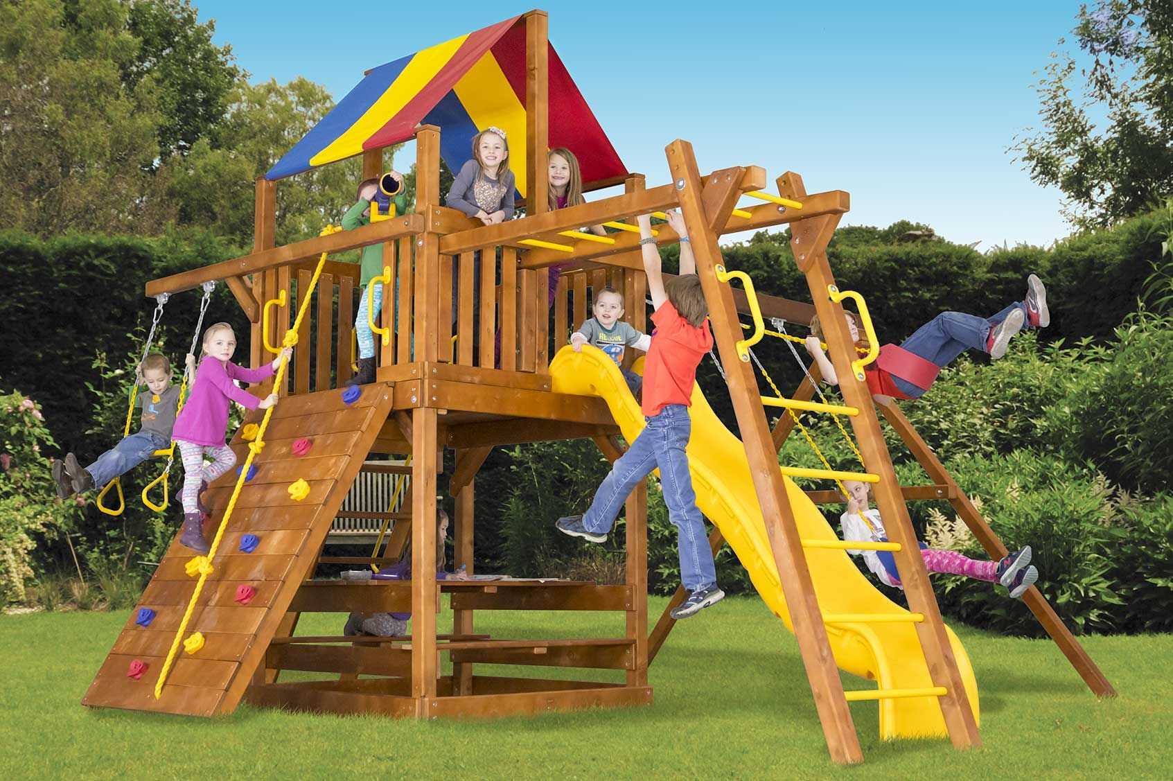 Clubhouse Outdoor Playsets Rainbow Play Systems Backyard