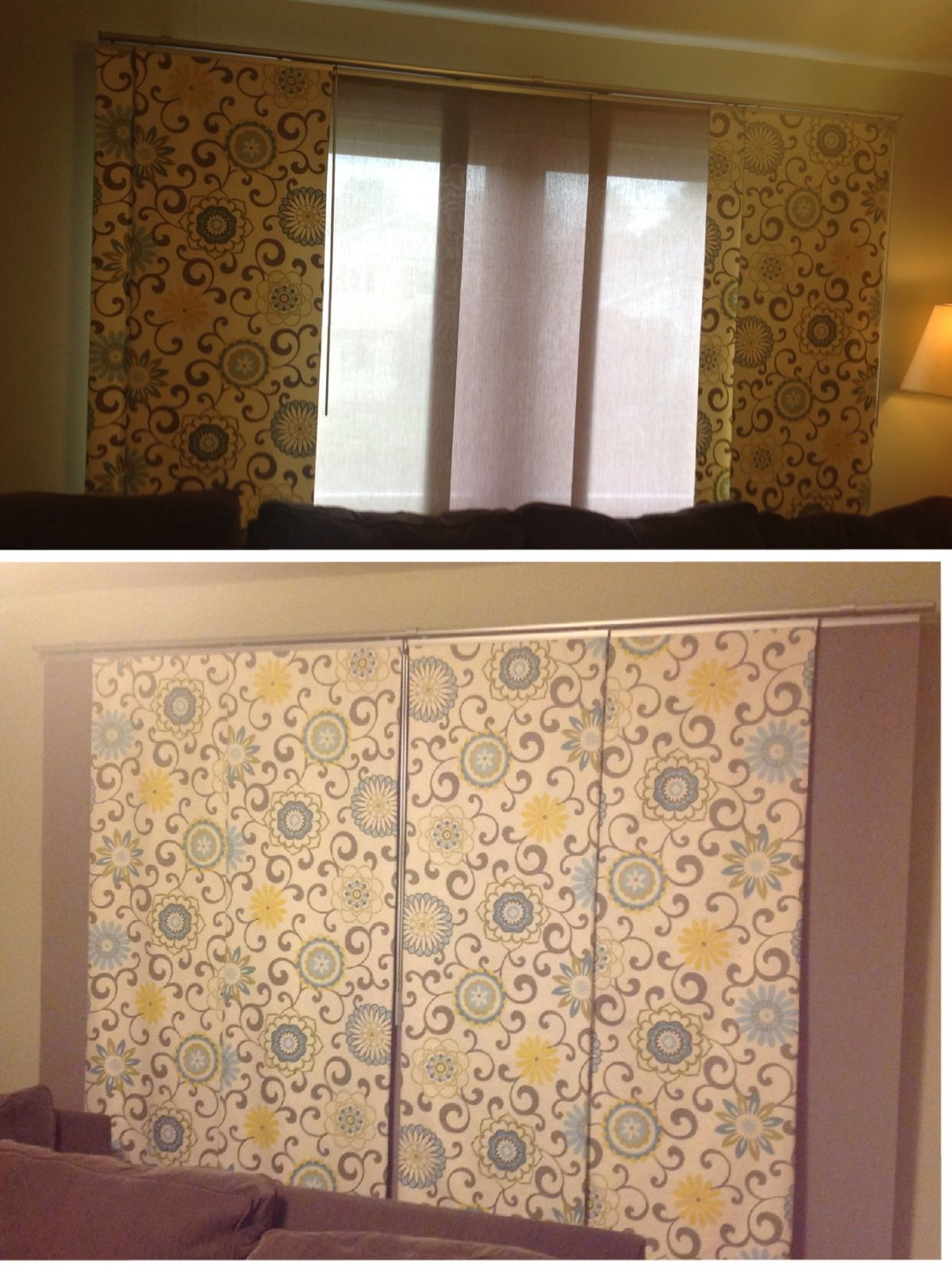 New Panel Curtains Using The Ikea Kvartal Track System