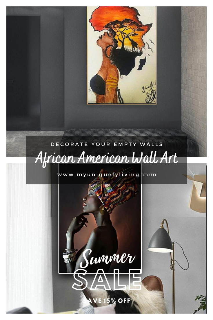 African American Wall Canvas Art Decor In 2020 Canvas Art Decor African American Wall Art African American Art