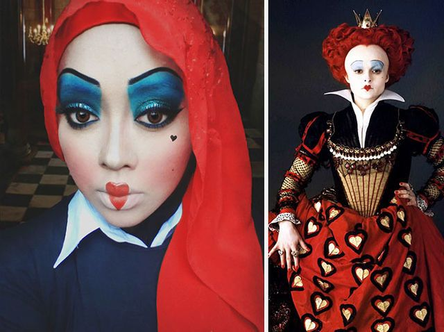 This Woman Uses Her Hijab To Transform Herself Into Disney - Makeup artist uses hijab to transform herself into disney characters