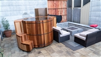 Shop for Western Red Cedar Cold Plunge - from one of the largest custom wooden hot tub retailers
