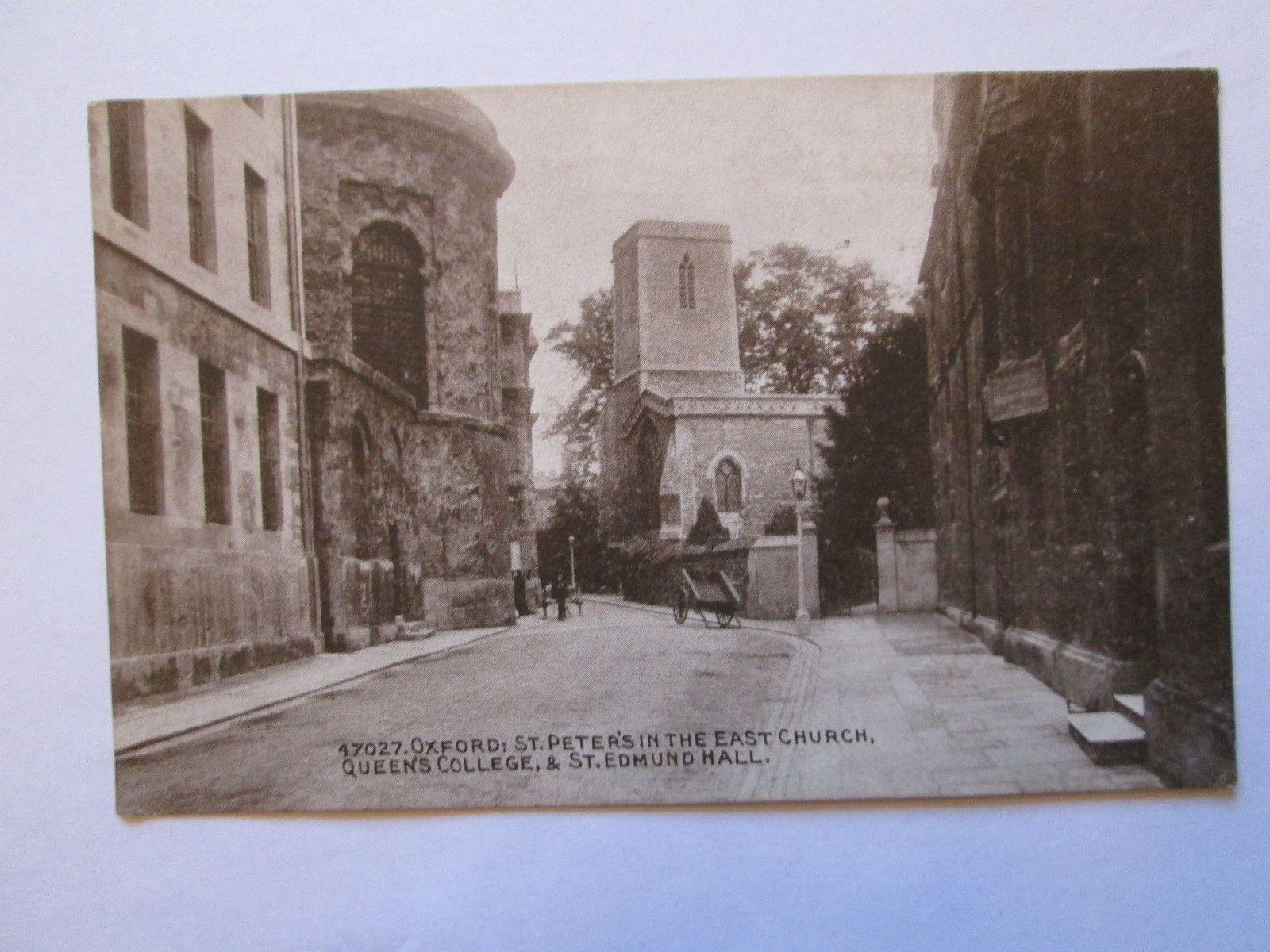 Postcard of Oxford St Peterus in the East Church Queenus College