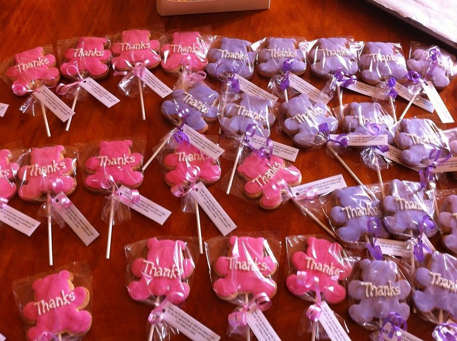pink and lavender baby showers pink purple teddy favours