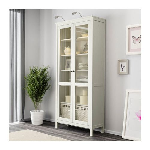 Incroyable HEMNES Glass Door Cabinet, White Stain