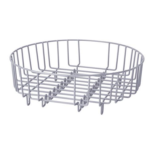 Ikea Atlant Dish Drainer Rinsing Basket Silver Colour 37 Cm Fits In A Rectangular Sink Makes Easy