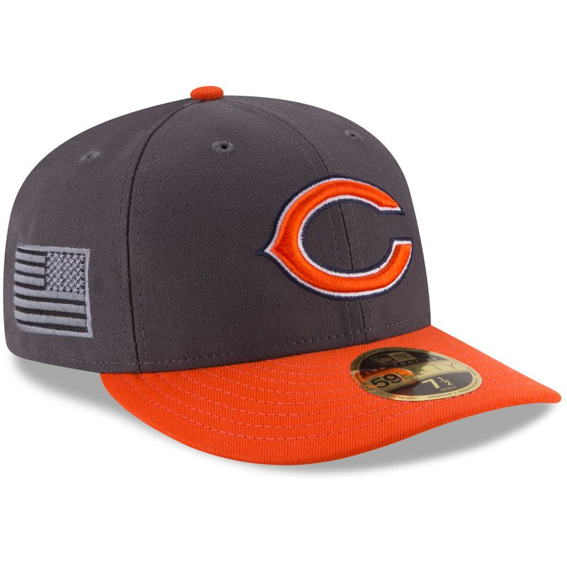 Chicago Bears New Era Crafted In America Low Profile 59FIFTY Fitted Hat -  Graphite 9d0237c1e81c