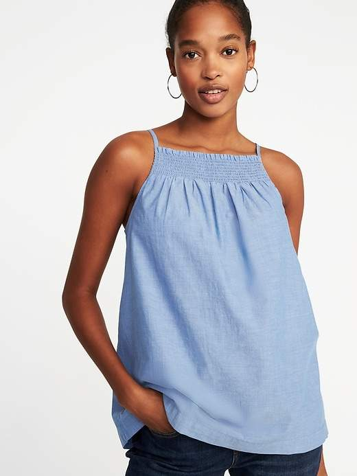 512751e023e2 Old Navy Smocked Swing Cami for Women | Products | Athletic tank ...